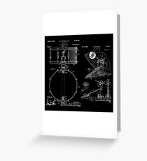 Blue Print Drum Kit Greeting Card
