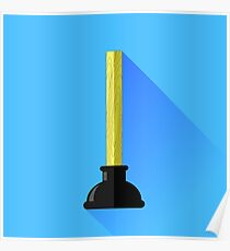 Rubber Plunger Poster