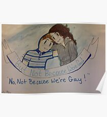 But Not Because We're Gay (dear Evan Hansen) Poster