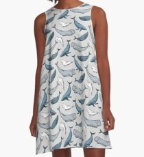 Whales are everywhere A-Line Dress