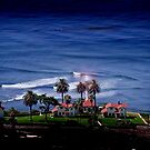 Cabrillo Light House by the Ocean by HeavenOnEarth