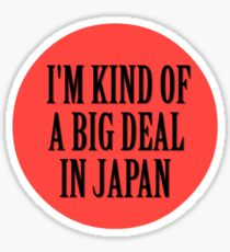 Big in Japan China Funny Cool Music Rock Pop Sticker