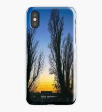 two deciduous trees at sunset  iPhone Case/Skin