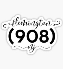 Flemington New Jersey NJ 908 (908) Sticker
