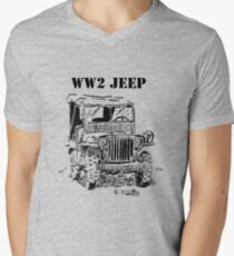 WW2 jeep Men's V-Neck T-Shirt