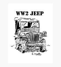 WW2 jeep Photographic Print