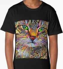Psychedelic Cat Long T-Shirt