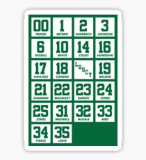 Retired Numbers - Celtics Sticker