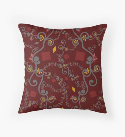 Red Yellow Connection Throw Pillow