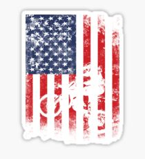 American Flag Motocross Dirtbike Sticker
