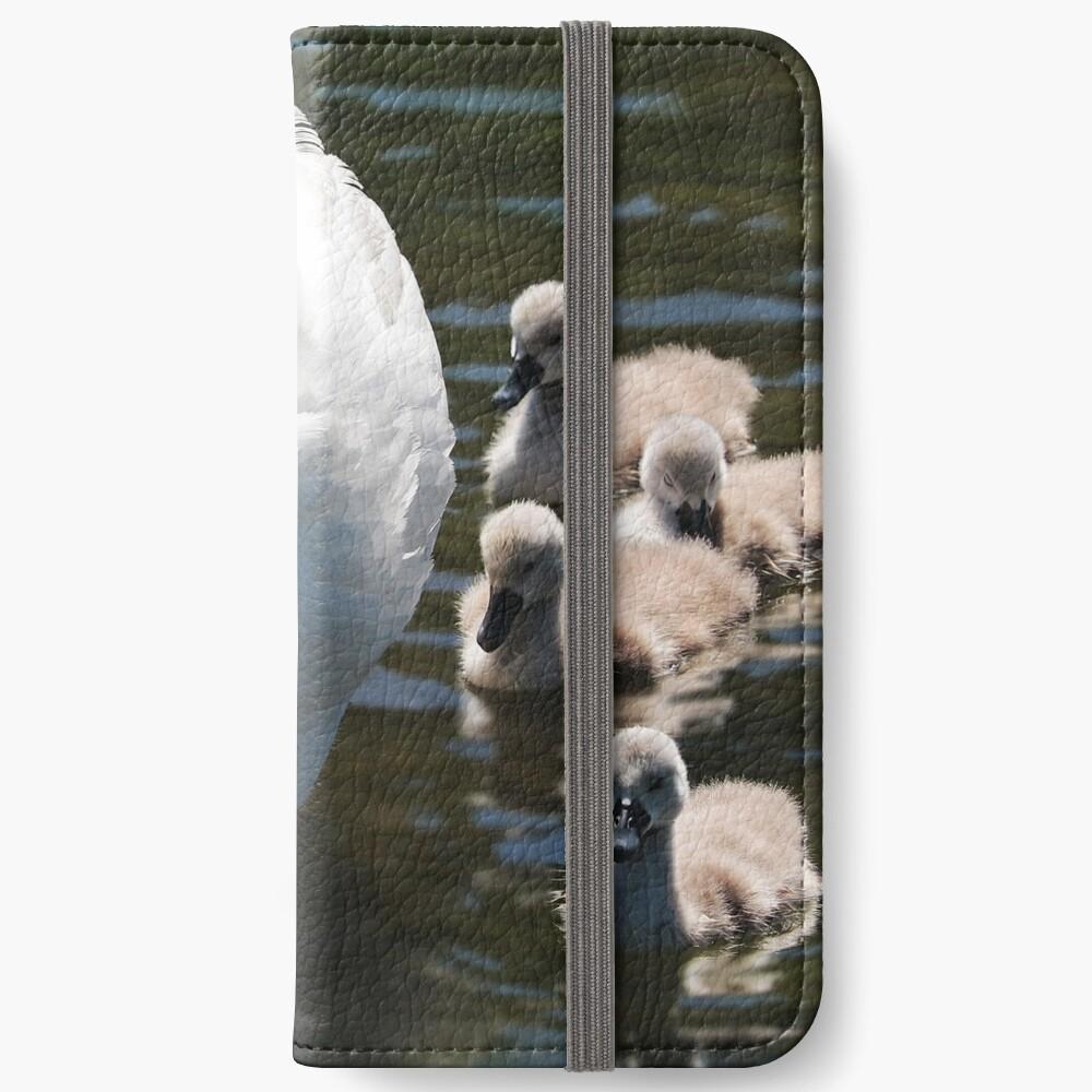 Schwäne iPhone Flip-Case