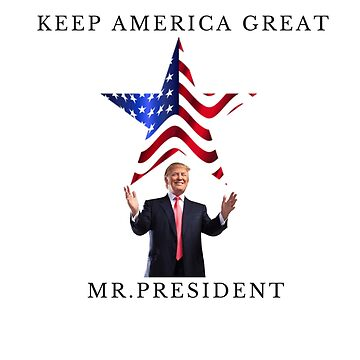Donald Trump keep america great mr president by Delpieroo