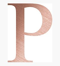Rose Gold Metallic Rho P Photographic Print