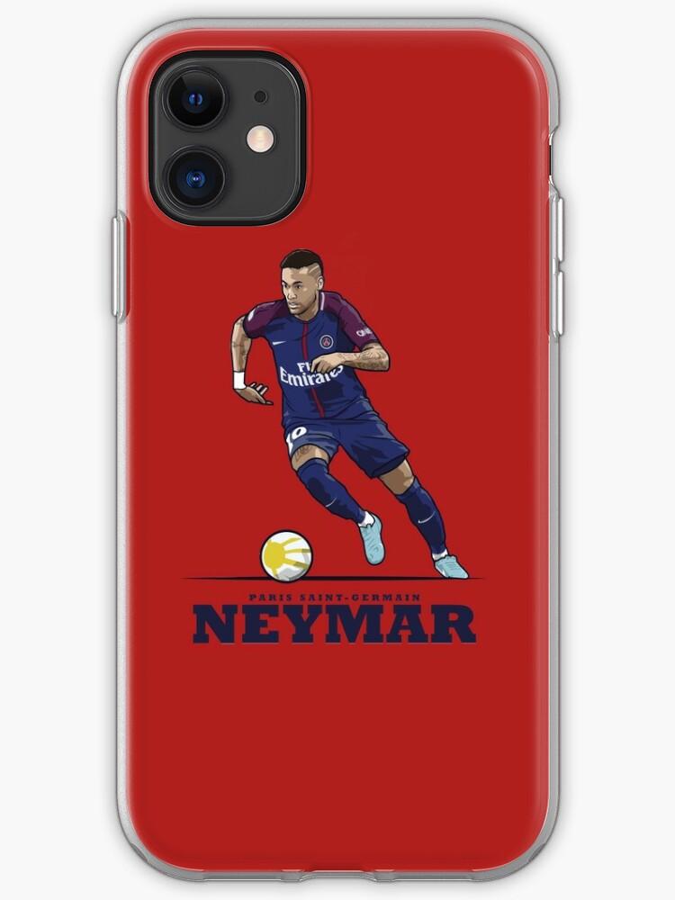 'Neymar Jr. Paris Saint Germain PSG' iPhone Hülle & Cover von Kieran Carroll