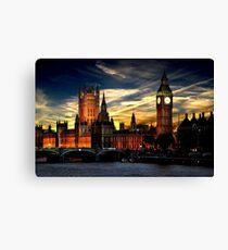 London's burning Canvas Print
