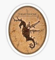 SeaHorse Oval Sticker