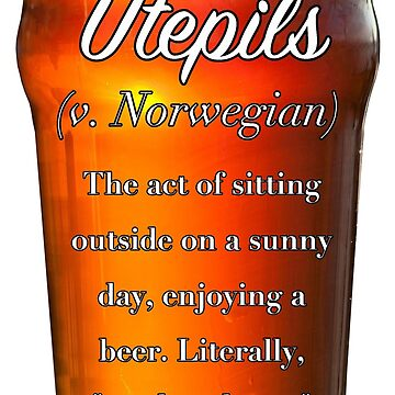 Utepils -  (untranslatable word) beer on a sunny day by welltraveled