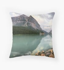 Lake Louise in the morning  Throw Pillow
