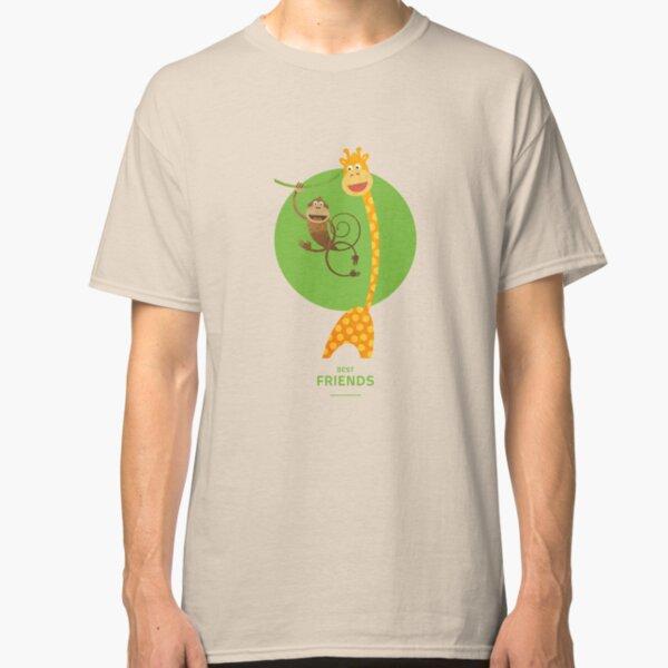 Illustration Kinderzimmer für Freunde – Giraffe und Affe Classic T-Shirt