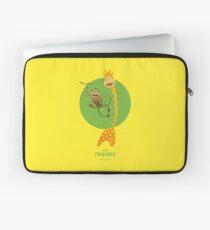 Best Friends - Giraffe and Monkey Laptoptasche