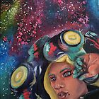 Don't Get Cooked! Squid Girl in Space Painting  by fugitiverabbit