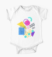 Memphis style Short Sleeve Baby One-Piece