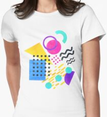 Memphis style Women's Fitted T-Shirt
