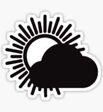 WITH CONFIDENCE - Better Weather Logo Sticker