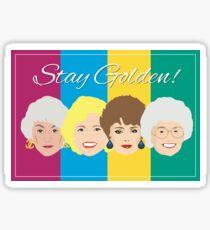 The Golden Girls Greeting Card Sticker