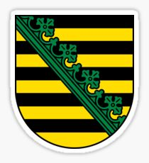 Coat of Arms of Saxony, Germany Sticker