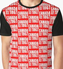 Canada Established 1867 Anniversary 150 Years Graphic T-Shirt