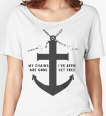 Anchored Cross Women's Relaxed Fit T-Shirt