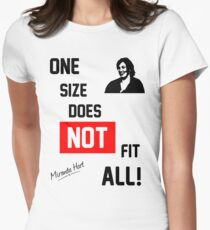 One Size Does NOT Fit All - Miranda Hart [Unofficial] Women's Fitted T-Shirt