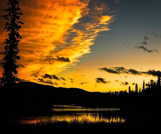 Sunset along the Alaska Highway by Yukondick