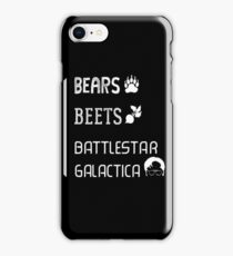 The Office - Bears, Beets, Battlestar Galactica Quote Jim/Dwight iPhone Case/Skin