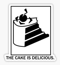 The cake is delicious. Sticker