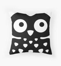 Black & White Owl Throw Pillow