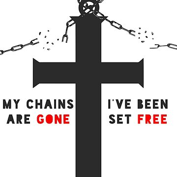 Cross with Broken Chains (red) by mizja