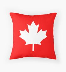 Canada Maple Leaf Flag Emblem Throw Pillow