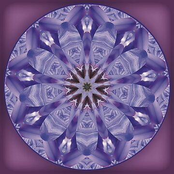 Kaleidoscope Mandalas - Iris Starburst by KristenJoy