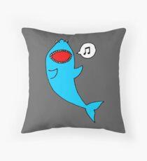 Singing Shark Throw Pillow