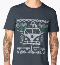 Vintage Retro Camper Van Sweater Knit Style Men's Premium T-Shirt