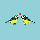 Bluetits in Love by Hannah Sterry