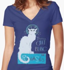 Le Chat Blanc Women's Fitted V-Neck T-Shirt