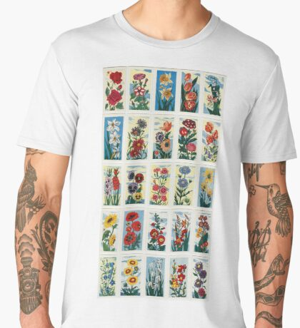 Cultured flowers (French collection). Set of 25 Men's Premium T-Shirt