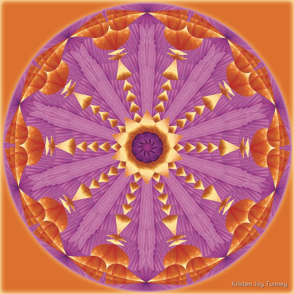 Kaleidoscope Mandalas - Unfolding Sun by Kristen Joy Tunney