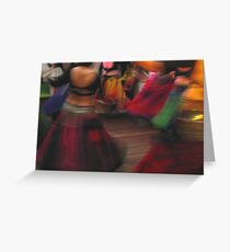 tribal blossoms Greeting Card
