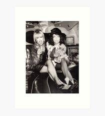 Patsy and Eddie Sweetie Darling Art Print