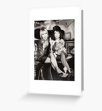 Patsy and Eddie Sweetie Darling Greeting Card