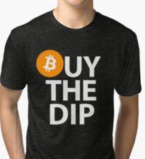 Bitcoin - Buy The Dip Tri-blend T-Shirt
